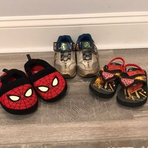 Sneakers flip flops and slippers!